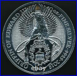 2018 Great Britain Queen's Beast GRIFFIN OF EDWARD III 10 Oz. 9999 Silver £10