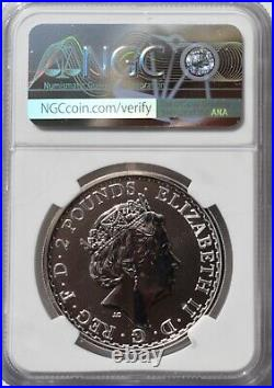 2019 Great Britain 1oz Silver Ngc Ms70 Britannia Oriental Border Uk Coin £2