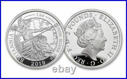2019 Great Britain Silver Britannia PROOF 6-Coin Set NGC PF70 UC COA# 182