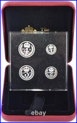 2019 Silver Proof Maundy Money Coin Set St Georges Chapel Very Scare Rare