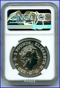 2020 2pd Great Britain 1oz Silver Ngc Ms70 Royal Arms First Releases
