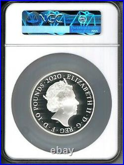 2020 Great Britain £10 Music Legend David Bowie 5 oz Silver Proof Coin NGC PF 70
