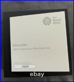 2020 Great Britain 1 oz Proof Silver Music Legends Elton John