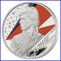 2020 Great Britain £2 Music Legends David Bowie 1 oz Silver Proof Coin 8000 Made