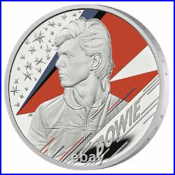 2020 Great Britain Legends of British Music David Bowie 1oz Proof Silver