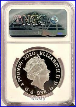 2020 Great Britain Music Legends David Bowie 1 oz Silver Proof Coin NGC PF 69