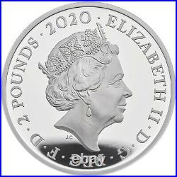 2020 Great Britain Music Legends Queen £2 Silver Proof 1oz Coin Box Coa