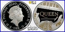2020 Great Britain Music Legends Queen Error £2 Silver Proof 1oz Coin PCGS PR70