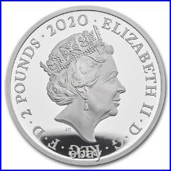 2020 Great Britain UK £2 Music Legends ELTON JOHN 1 oz Silver Proof Coin Box COA