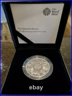 2021 1oz Great Britain Queen's Beasts Completer. 999 Silver Proof Coin