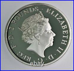 2021 Great Britain 1 oz. 999 Silver Britannia & Lion PROOF coin with COA & OGP