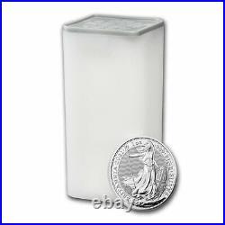 2021 Great Britain 1 oz Silver Britannia BU (Lot of 25)