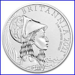 2021 Great Britain 1 oz Silver'Plain Fields' Britannia/Lion £2 NGC MS-69 DPL