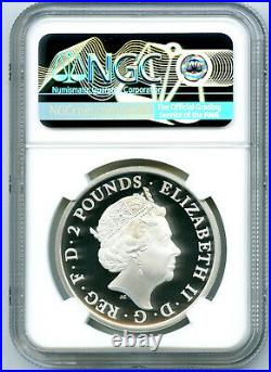 2021 Great Britain 1oz Silver Proof Ngc Pf70 Ucam Queen's Beasts Completer Coin