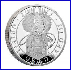 2021 Great Britain £2 1oz Silver Queen's Beasts GRIFFIN OF EDWARD III PF70UC FR