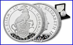 2021 Great Britain £2 1oz Silver Queen's Beasts White Greyhound Richmond PF70 UC