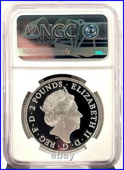 2021 Great Britain £2 Lunar Year of the Ox 1 oz Silver Proof Coin NGC PF 70