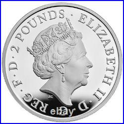 2021 Great Britain £2 Queens Beast Griffin 1 oz Silver Proof Coin NGC PF 70