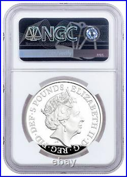 2021 Great Britain Alfred The Great 28.28 g Silver £5 Coin NGC PF70 FR Tower