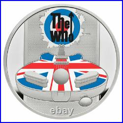 2021 Great Britain Legends The Who 1 oz Silver Colorized Proof £2 Coin