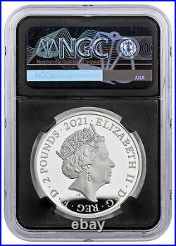 2021 Great Britain Legends of British Music The Who 1 oz Silver Proof PF70 UC