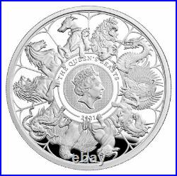2021 Great Britain Queen's Beast Completer 1 oz Silver Proof Coin OGP JL671
