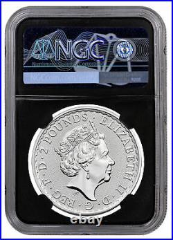 2021 Great Britain Silver Britannia 1 oz Silver £2 Coin NGC MS70 FR Black Core