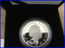 2021 Queen's Beasts 1oz Silver Proof The White Greyhound of Richmond