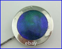 Antique Solid Silver & Enamel Hat Pin Charles Horner 1910
