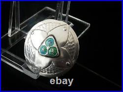 Art Nouveau Silver Enamel Hinged Hatpin, Birmingham 1909, Cymric, Davis Moss Co