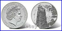 Big Ben 2015 UK £100 Fine Silver Coin Unopened