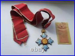 Commander Of The Order British Of The Empire, Cbe Silver & Enamel Medal, Cased