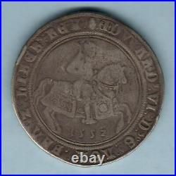 Great Britain. 1552 Edward VI Crown. Fine Silver Issue. MM-Tun. VF