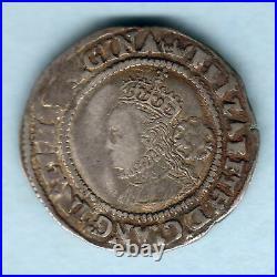 Great Britain. 1567 Elizabeth 1, Sixpence. MM-Coronet. F+/VF Near Full Flan