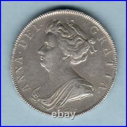 Great Britain. 1703 Queen Anne Halfcrown. Vigo below bust. AEF
