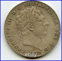 Great Britain CROWN 1820 LX GEORGE III BRITISH SILVER high grade