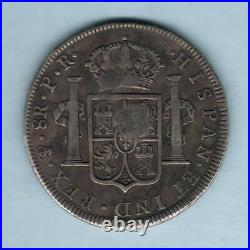 Great Britain Geo 111 Emergency Issue $1. Bust Countermark on Bolivia 8 Reales