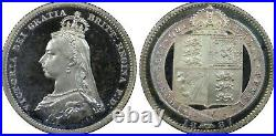 Great Britain PCGS PR67DCAM 1887 SILVER PROOF SHILLING Highest single Grade