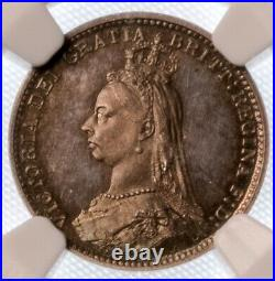 Great Britain Victoria Proof 3 Pence 1887 NGC PR65 Beautiful Detailed Coin