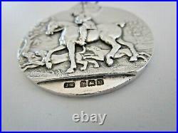 Large Sterling Silver Medal, Light Horse Breeding Society 1929