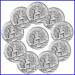 Lot of 10 2021 Great Britain Myths & Legends Robin Hood 1 oz Silver GEM BU
