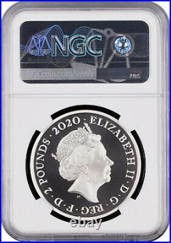 NGC PF70 UC Great Britain 2020 Music Legends David Bowie Silver Coin 1oz S2P COA