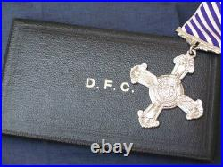Original Full Size Solid Silver Cased RAF Distinguished Flying Cross dated 1944