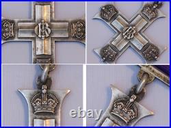 Original WWI Silver Full Size Military Cross Gallantry Medal. World War I