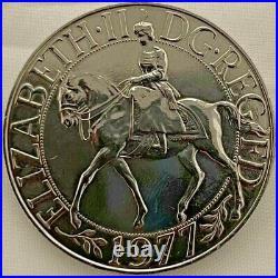 Queen Elizabeth II DG REG FD 1977 Commemorative Silver Jubilee Coin VERY RARE