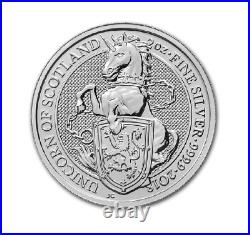 Queens Beasts Unicorn 2018 2 OZ Silber Silver Großbritannien Great Britain UK