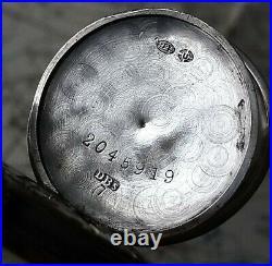 Rare Early Irish Silver Trench Watch Dimier Swiss Hallmarked Army Military Ww1
