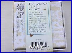 Royal Mint Beatrix Potter 2016 Peter Rabbit Silver Proof Colour UK 50P VGC