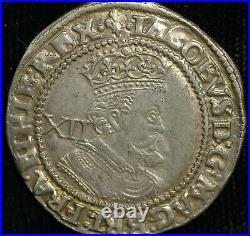 Shilling James I Hammered 1623 -4 MM. Lis S2668 Sixth Issue gVF (T119)