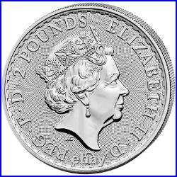 Silber Britannia Tube 25x 2021 1 OZ Silver Argent Großbritannien Great Britain